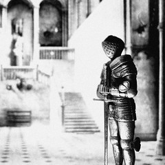 suit of armour (alex) Tags: blackandwhite bw castle toy miniature model sword knight armour greathall kinghenryviii