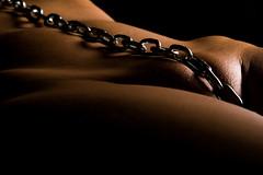 Chain II (rufstefan) Tags: woman home nude akt close chain frau bodyart bodypart kette teilakt homeshooting
