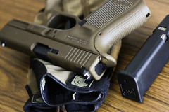have glock  (1 of 1) (toolboxluis) Tags: gun 9 boom gloves glove pew 9mm glock oew