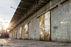 warehouse (papkostantin) Tags: old sky sun colors rust central salt warehouse greece abandon flares agiamarina dors ftiotida