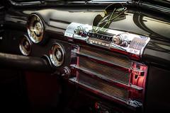 Buick interior (vale0065) Tags: auto detail car sunglasses radio buick classiccar zwartwit interior interieur oldtimer dashboard zonnebril tessenderlo