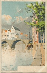 La Belgique pittoresque - Aquarelles (bDom) Tags: watercolor belgium belgique 1900 malines oldpostcard cartepostale dyle bdom