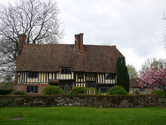 Wonky Levels (Louise and Colin) Tags: uk windows roof england house tree english wall kent spring blossom britain cottage eu british lovely chimneys halftimbered timberframed smarden steeppitch closestudding spring2014