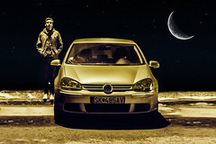 one night in one city (Luky Rych) Tags: city portrait moon car vw night canon golf 50mm bokeh plus mcdonald worldcars