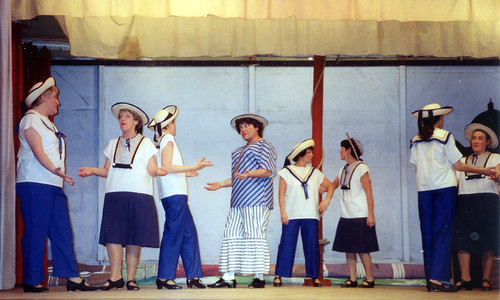 1994 Dick Whittington 33 Anything goes (from left Cheryl McLure, Julie Kitchen,Linda Ellis,Ross Crowe, Ann Brothers,x,x,Carly Redgate)