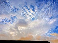 Sky over house