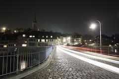 Untertorbrcke - Bern (kevin.roth94) Tags: old bridge sky water night river lights switzerland town long exposure glow running stadt bern mnster aare untertorbrcke