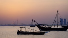 Take me back (semsia_qtr) Tags: doha skyline sunset boat dhow qatar corniche mia park desert summer