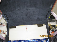 Headliner with trims (Guger81) Tags: bmw2002 interior headliner microfibre suede