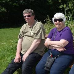 Sutton Park. Sue and her son Paul. (Anne & David (Use Albums)) Tags: suttonpark sue paul