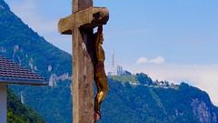 Vionnaz, Switzerland (Steve Burgess1) Tags: switzerland jesus crucifix powerplant cross
