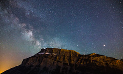 Milkyway over Tunnel Mountain [Explore 16/07/2016] (Schmu.online) Tags: sky mountain canada black berg night canon stars landscape nationalpark exposure nightscape nacht outdoor himmel wolke sigma berge banff rockymountains nightsky 24mm np landschaft sterne kanada banffnationalpark milkyway 6d langzeitbelichtung tunnelmountain bowvalley heiter canon6d milchstrase