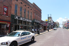 Beale Street in Memphis is not as exciting in the afternoon (Hazboy) Tags: hazboy hazboy1 downtown memphis tennessee south midsouth southland us usa america july 2016 beale street police car policia politzei