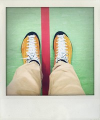 stand (larsniel) Tags: scarpa shoes bored green orange red line legs standing pants mojito scarpamojito