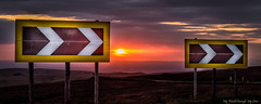 Sharp Bend at Sunset (MyWorldThroughMyLens) Tags: wildboarclough england unitedkingdom gb road sign signs sharp bend sunset lowsun sundown clouds
