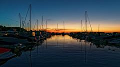 Sister Bay (uncledougie) Tags: doorcounty wisconsin sunset sailboats greenbay sisterbay harbor