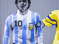 Diego Maradona Wall Art (Mabry Campbell) Tags: usa sports sport wall photography photo colorful texas photographer unitedstates faces image 10 painted famous fineart july houston wallart hasselblad f90 photograph 100 fineartphotography number10 80mm 2016 diegomaradona 1stward soccerplayer commercialphotography fav10 harriscounty firstward hc80 sec mabrycampbell h5d50c july72016 20160707campbellb0000330