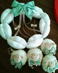 5ç (Eliza de Castro) Tags: móbile de berço mobile decoração bebe quarto ideia tendência elo7 ovelha ovelhinha ovelhina menino boy baby its