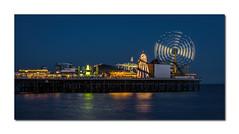 28/52: Technique - Night (hehaden) Tags: sea night reflections lights sussex pier brighton brightonpier palacepier 52photos2016