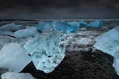 Black & Blue (Marshall Ward) Tags: ice landscape iceland icebergs jkulsrln blueice stormyskies icebeach nikond800 afszoomnikkor2470mmf28ged marshallward