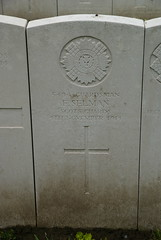 F. Selman, Scots Guards, 1914, War Grave, Poperinghe (PaulHP) Tags: cwgc ww1 world war 1 first great belgium grave marker headstone military cemetery f cf charles frederick selman private service number 5494 4th november 1914 scots guards 1st bn battalion poperinghe old swindon wilts wiltshire london
