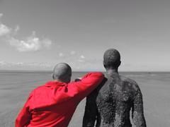 (ste.lee.edwards) Tags: photography photo blackandwhite sea beach liverpool crosbybeach