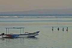Bali - Sanur Beach - Evening Fishermen (zorro1945) Tags: fishermen sanur sanurbeach bali indonesia asia outrigger eveninglight sunset sundown gloaming