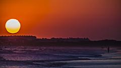 Sunset fisher (Ignacio M. Jimnez) Tags: playa beach sunset atardecer seascape paisaje fisher pescador mar sea sol sun puntaumbria huelva andalucia andalusia espaa spain