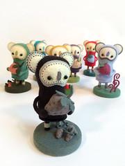Dark Woot Berry (MelissaSueArt) Tags: wootbear gallery plush handmade designertoy arttoy koala logo custom limited wool felt embroidery kawaii