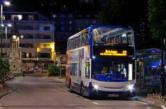 Nights Pulling In... (Better Living Through Chemistry37) Tags: route12 stagecoach stagecoachdevon stagecoachsouthwest buses busessouthwest busesuk transport transportation 15868 wa62aom alexanderdennis enviro enviro400 harbourside lowlight nightphotography scania scanian230ud n230ud