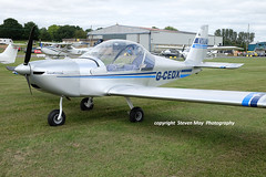 G-CEDX EV-97 Eurostar (SPRedSteve) Tags: gcedx eurostar ev97 shobdon aircraft airplane