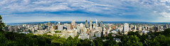 View of Montreal from Mont Royal (thecheetahexpress) Tags: mont royal mount montreal cityscape clouds sky panorama panoramic canada hiking hike architecture