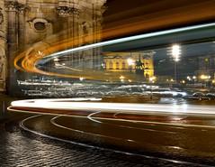 Licht einer Straßenbahn