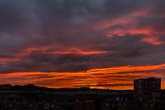 Fuego!!!!! (chuscordeiro) Tags: madrid sky color luz sol canon amanecer cielo nubes fuego 1022 manzanares usera 550d entrevias