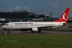 Turkish Airlines Boeing 737-800 TC-JHP EIDW 310814 (gerrykane214) Tags: ireland dublin canon eos airport aviation august international commercial boeing airlines departure takeoff turkish 2014 737800 eidw tcjhp