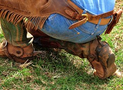 ranch_chaps_43 (ORcowboy52) Tags: spurs cowboy boots wranglers chaps chinks