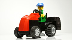 lawn mower tractor (hajdekr) Tags: city tractor grass lego small lawn vehicle easy mower minifigure moc myowncreation lawnmowerproductcategory
