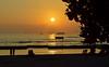 """Some Enchanted Evening"" (jcc55883) Tags: ocean sunset sky clouds hawaii nikon waikiki oahu horizon pacificocean vog nikond3200 yabbadabbadoo kalakauaavenue d3200 kuhiobeachpark"
