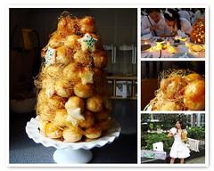 Croquembouche at Diner En Blanc (ComeUndone) Tags: dessert croquembouche showpiece dinerenblanc