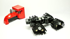 Tracked Articulated Tractor (Lego Toy) (hajdekr) Tags: tractor motion lego small technic vehicle agriculture tool articulated tracked moc agro myowncreation microscale legointerest continuoustrackinvention toyinterest tractorproductcategory