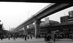Dhaka /  (Bangladesh) - Suburban Traffic (Danielzolli) Tags: road street bridge pu