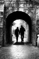 Valentines (D.J. De La Vega) Tags: york silhouette stone 50mm nikon df arch d cobble archway f18