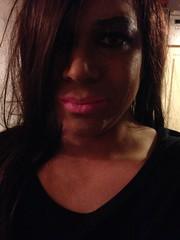 Not sure about the lighting (Priya Lloyd TV) Tags: pink tv pretty lips tranny transvestite lipstick trans
