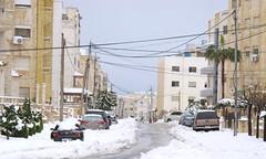 The neighborhood where I live. (taalmeer) Tags: street winter snow amman neighborhood jordan bmw snowing gmc bmwz4