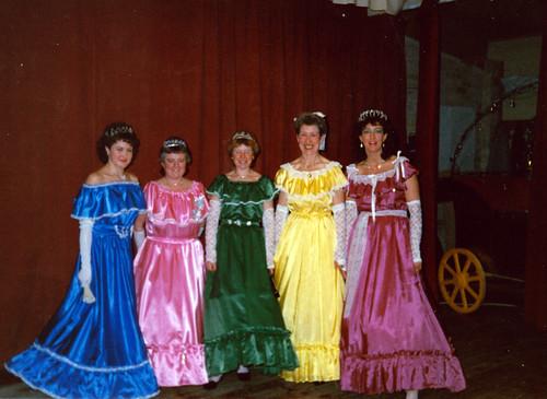 1988 Cinderella 03 (from left Julie Waterman, Margaret Fielding,x,x,x)