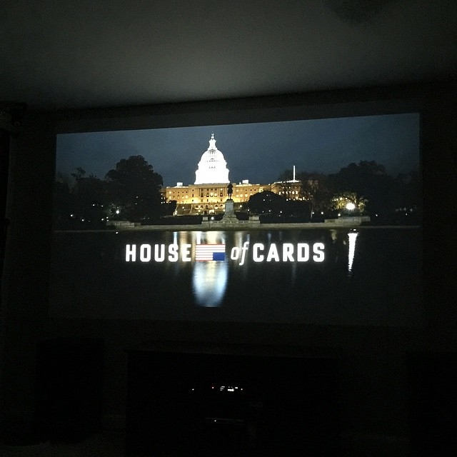 Up early and now watching season 3 of House of Cards. Yessssssssssssssss.