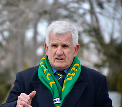 Frank McDonnell, president of the Donegal Association
