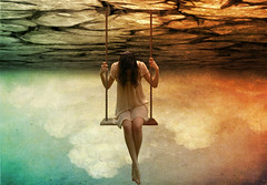 falling down (PYLmom) Tags: photomanipulation photoshop surreal swing
