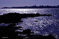 Clair de lune (didier95) Tags: mer bretagne paysage nuit morbihan rocher portlouis