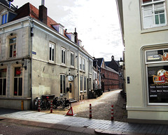 Street with parked bicycles (fotophotow) Tags: netherlands nederland shertogenbosch noordbrabant northbrabant